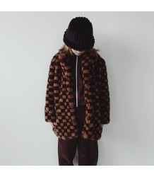 CHECKERBOARD Fake Fur Coat BO(Y)SMANS CHECKERBOARD Fake Fur Coat