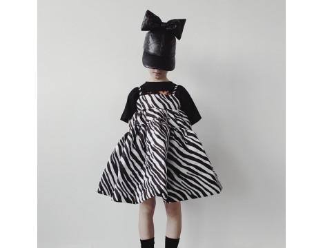 Caroline Bosmans Mat Bather Matelasse Maxi Wide Dress ZEBRA