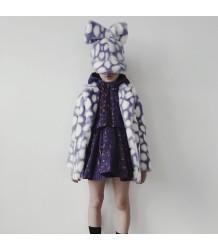 Caroline Bosmans LEOPARD Hat Hood Caroline Bosmans LEOPARD Hat Hood purple