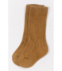 Play Up Ribbed Knee Socks PLAY UP Ribbed Knee Socks mustard