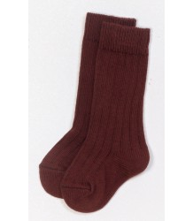 Play Up Ribbed Knee Socks PLAY UP Ribbed Knee Socks burgundy