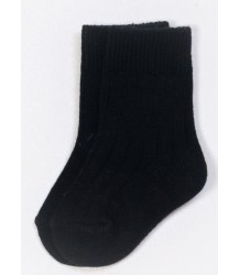 PLAY UP Ribbed Short Socks PLAY UP Ribbed Short Socks black