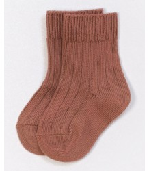 PLAY UP Ribbed Short Socks PLAY UP Ribbed Short Socks vintage pink