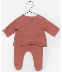 Play Up Baby T-shirt & Trousers Set PLAY UP Baby Twin Set vintage pink