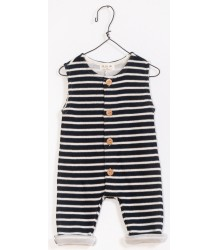 PLAY UP Sleeveless Double Face Jumpsuit STRIPES PLAY UP Sleeveless Double Face Jumpsuit STRIPES