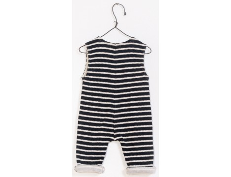 PLAY UP Sleeveless Double Face Jumpsuit STRIPES