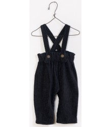 PLAY UP Rib Velours Dungaree Pants PLAY UP Rib Velours Salopette anthracite