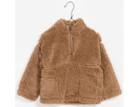 PLAY UP Fake Fur Sweatshirt