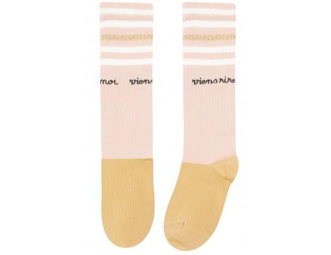 Emile et Ida Tennis Sock LUREX STRIPES