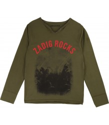 Zadig & Voltaire Kids T-shirt Boxer ZADIG ROCKS Zadig & Voltaire Kids T-shirt Boxer ZADIG ROCKS