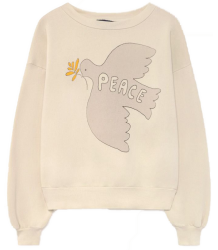 The Animals Observatory Bear Kids Sweatshirt PEACE Bear Kids Sweatshirt PEACE