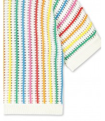 Stella McCartney Kids SS Jumper w/ RAINBOW STRIPES Stella McCartney Kids SS Jumper w/ RAINBOW STRIPES