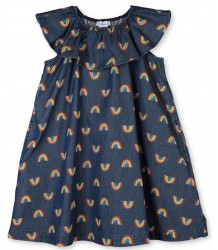 Stella McCartney Kids RAINBOW Chambray Dress Stella McCartney Kids RAINBOW Chambray Dress
