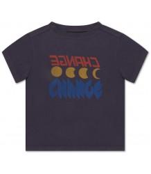 Repose AMS T-shirt CHANGE Donker Blauw Grijs Repose AMS T-shirt CHANGE Donker Blauw Grijs