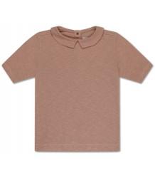 Repose AMS T-shirt w/COLLAR Powder Creme Repose AMS T-shirt m/KRAAG Poeder Roze