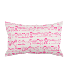La Cerise sur le Gâteau Cushion Cover Faces La Cerise sur le Gateau Cushion Cover Faces, pink