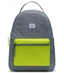 Nova Youth Backpack CROSSHATCH / Lime Green Herschel Nova Youth Rugtas CROSS / Lime Groen