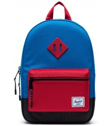 Heritage Backpack Kids COLORBLOCK Herschel Heritage Rugtas Kids Blauw CROSSHATCH