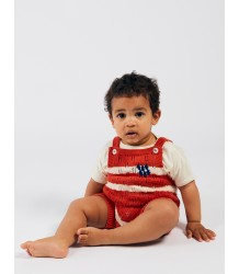 Bobo Choses STRIPED Knitted Baby Playsuit Bobo Choses GESTREEPT Gebreid Baby Playsuit