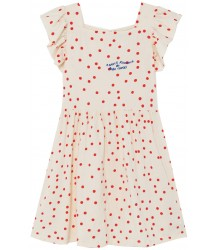 Bobo Choses DOTS Jersey Ruffle Dress Bobo Choses STIPPEN Jersey Roezel Jurk