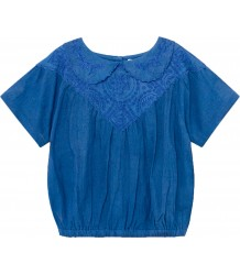 Bobo Choses Embroidered SS Blouse Bobo Choses Geborduurde KM Blouse
