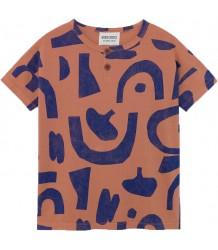 Bobo Choses ABSTRACT SS Button T-shirt Bobo Choses ABSTRACT KM Knoopjes T-shirt