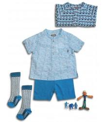Kidscase Steve Baby Shirt - OUTLET Kidscase Steve Baby Shirt, blue