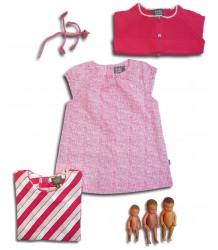 Kidscase Steve Baby Dress - OUTLET Steve Baby Dress, pink print