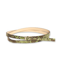 American Outfitters Python Belt - OUTLET American Outfitters Python Belt, green
