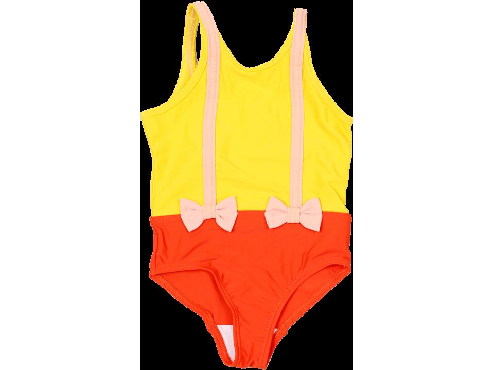 27ad7fa188 Mini Rodini Brace Swimsuit - Orange Mayonnaise