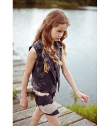 Finger in the Nose Nela Sleeveless Jacket Finger in the Nose, Nela Sleeveless Jacket, grey marble, denim, gilet