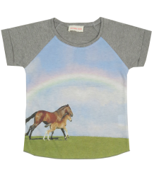 Horse Tee Simple Kids Horse Tee, grey melange