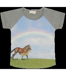 Horse Tee Simple Kids Horse Tee, grey melange