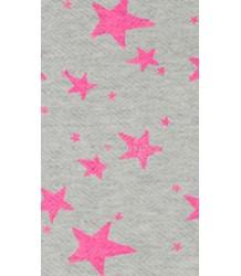 Noé & Zoë Kids Poncho Noe & Zoe Kids Poncho pink stars grey melange herringbone fleece
