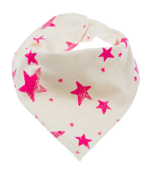 Noé & Zoë Drooling Scarf No? & Zo? Drooling Scarf neon pink stars