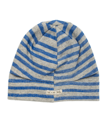 Noé & Zoë Hat Noe & Zoe Hat blue stripes herringbone fleece