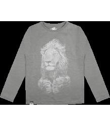 Lion of Leisure T-shirt LS Lion Lion of Leisure T-shirt LM Lion grey