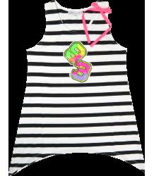 Striped Singlet Patrizia Pepe Junior Girls Striped Singlet white black neon