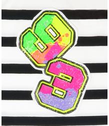 Striped Singlet Patrizia Pepe Junior Girls Striped Singlet white black neon 93