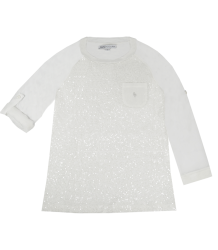 Paillette Tee Patrizia Pepe Girls Paillette Top