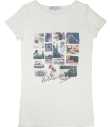 Patrizia Pepe Girls Paris T-shirt Patrizia Pepe Girls Paris T-shirt ivory white single jersey