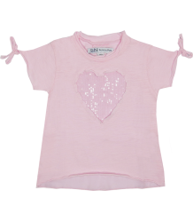 Heart T-shirt Patrizia Pepe Girls Heart T-shirts light pink