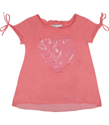 Patrizia Pepe Girls Heart T-shirt Patrizia Pepe Girls Heart T-shirt pink