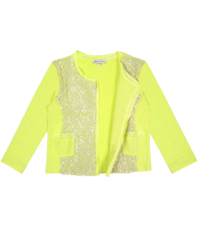 Patrizia Pepe Girls Paillette Sweat Jacket Patrizia Pepe Girls Paillette Sweat Jacket yellow