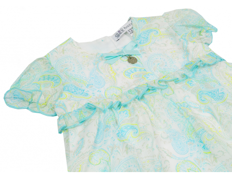 Patrizia Pepe Girls Paisley Blouse Top