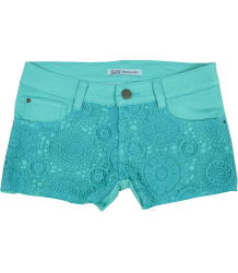 Lace Shorts Patrizia Pepe Girls Lace Shorts Dark turquoise