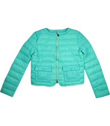 Patrizia Pepe Girls Light Weight Padded Jacket Patrizia Pepe Girls Light Weight Padded Jacket turquoise