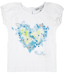 Patrizia Pepe Girls Butterfly Heart T-shirt Patrizia Pepe Girls Butterfly Heart T-shirt