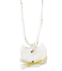 April Showers by Polder Cat Necklace April Showers by Polder Cat Necklace porcelain off white