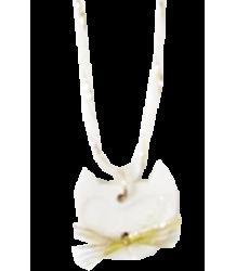 Polder Girl Cat Necklace April Showers by Polder Cat Necklace porcelain off white